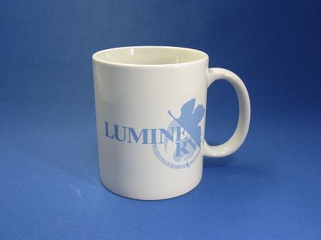 LUMINERVの特典マグカップ青
