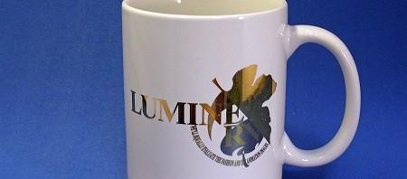 ルミネとエヴァのコラボ企画 抽選プレゼントの金バージョンマグカップ