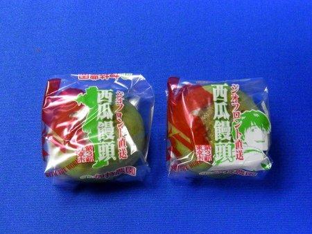 西瓜饅頭の包み紙 加持リョウジと初号機イラスト