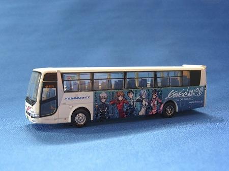 小田急箱根高速バス ヱヴァンゲリヲンラッピングバス、細かいイラストも再現されている