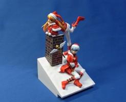 クリスマスケーキ 舞い降りた天使たちのフィギュア2体セット