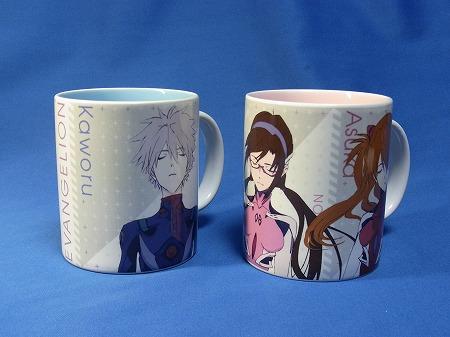 エヴァンゲリオン展が銀座で開催された時販売されたマグカップ2種類