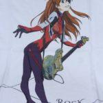 エヴァグッズ No.247 「rockin'star★」ブランドTシャツ アスカ×ギター