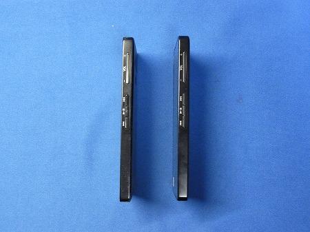ウォークマン F880シリーズ ヱヴァンゲリヲンモデルと通常版の比較・側面