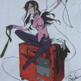 平松禎史による描き下ろしイラストのマリ。エベレストの上に乗る