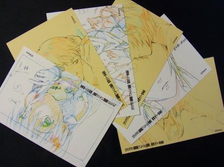 エヴァンゲリオンカラー原画展・ポストカード全6種類