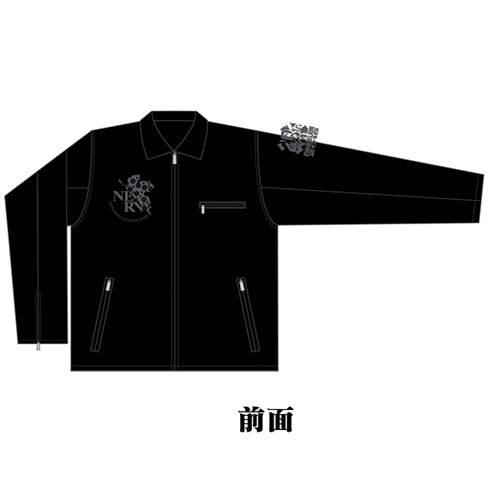 EVA×錦 初号機NERVマーク刺繍レザートラッカージャケット
