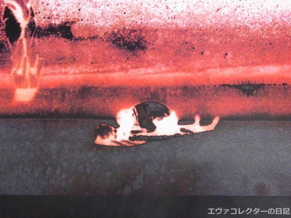 サントラ「THE END OF EVANGELION」ポスター中央のシンジとアスカ