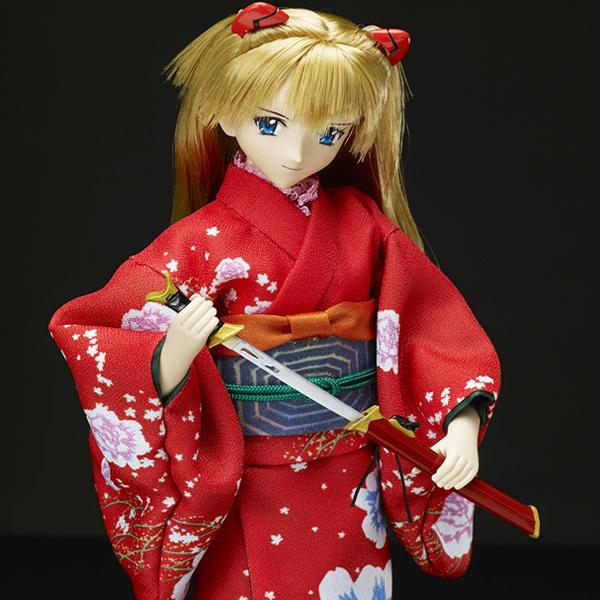 エヴァの和ドールシリーズ第壱弾式波・アスカ・ラングレーと日本刀(タカラトミー)の商品画像