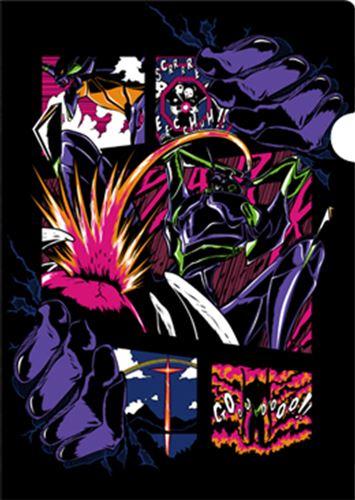 エヴァンゲリオンの世界をアメリカン・コミックス風にアレンジしたイラストを使用