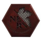 ヱヴァンゲリヲン新劇場版 NERVエンブレムステッカー/レッド アルミ合金と真鍮でできた高級感のあるステッカー