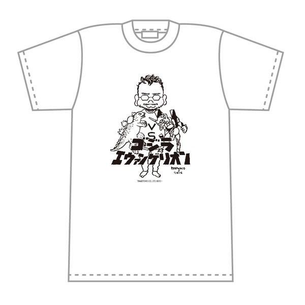 ゴジラ対エヴァンゲリオン 安野モヨコ氏によるコラボイラスト入りTシャツ