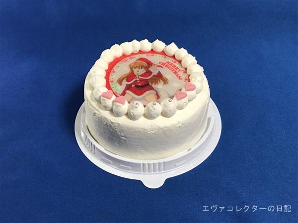 エヴァのクリスマスケーキ プリロールの4号ホールケーキ全体