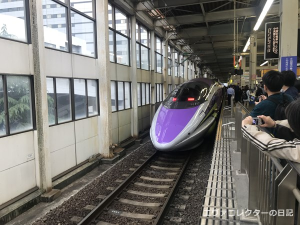 運行最終日。広島駅に到着したエヴァ新幹線