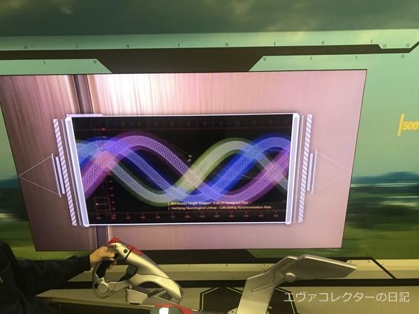 左手のスクリーンにはシンクログラフやネルフスタッフなどが映し出される