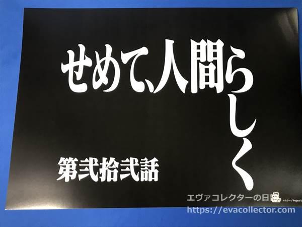 第弐拾弐話『せめて、人間らしく』のタイトル画面
