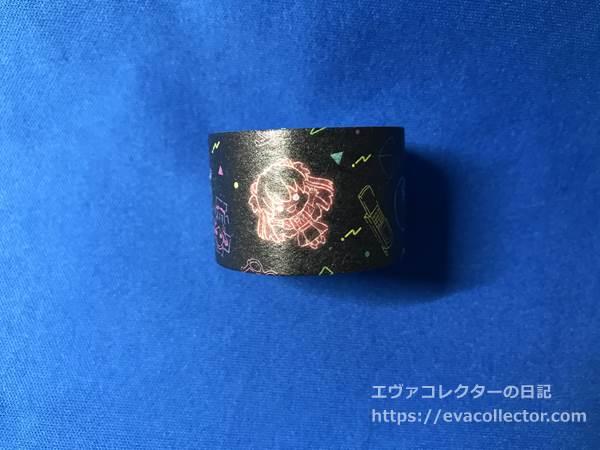 「EVA PILOTS」シリーズ マスキングテープ 90s柄 マスキングテープ・黒のイラスト
